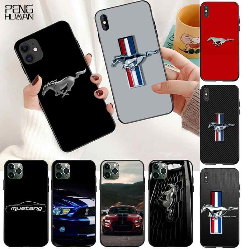 HPCHCJHM Ford Mustang Logo Weiche Silikon TPU Telefon Abdeckung für iPhone 11 pro XS MAX 8 7 6 6S plus X 5S SE 2020 XR fall