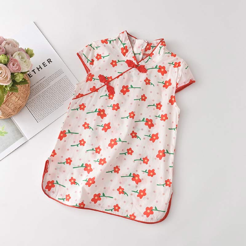 Bear Leader Girls Casual Dresses 2021 New Fashion Kids Chinese Style Clothes Baby Girl Party Outfits Flowers Clothing 2 8 Years 5