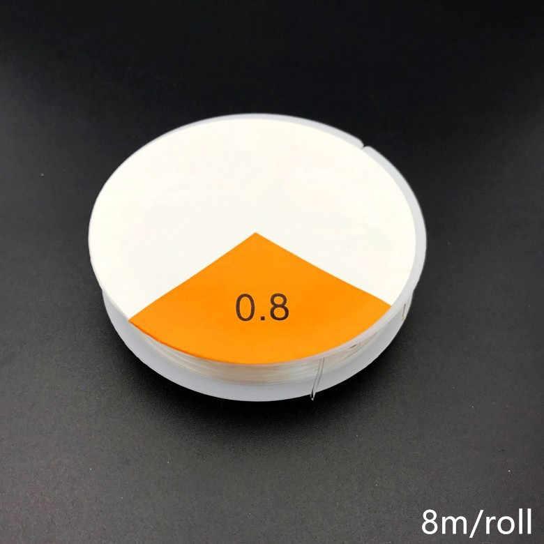 1 Roll Transparan Stretch Elastis Kristal Garis Manik-manik Tali Tali/Tali/Benang DIY Buatan Tangan Perhiasan Temuan