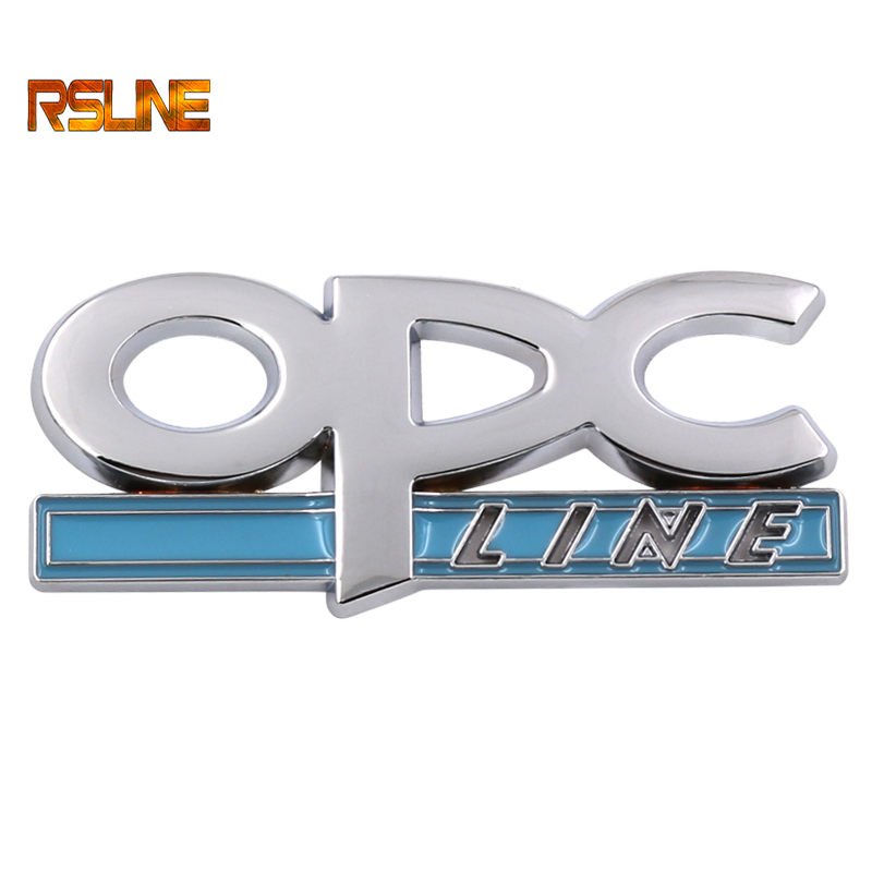 1 PCS 3D Metal OPC LINE Emblem Car Side Fender Tail Badge Front Grille Sticker For OPEL Car-styling Metal Car Decoration
