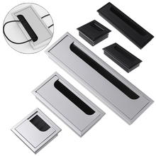 Cable-Holder Outlet-Port Grommet-Hole-Cover Rectangle-Wire Black-Brush with for PC Aluminum-Alloy