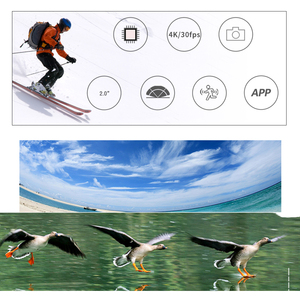 Image 4 - 2020NEW SJCAM SJ4000 AIR Action Camera Full HD Allwinner 4K 30FPS WIFI 2.0 ekran wodoodporny sport Mini kask samochodowy kamera DV