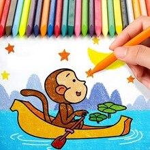 12 couleurs effaçable Art crayon stylo ensemble Mini Triangle dessin peinture pastel crayon enfants cadeau papeterie fournitures scolaires F654