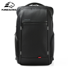 Kingsons Man Backpack Fit 15 17 inch Laptop USB Recharging Multi layer Space Travel Male Bag