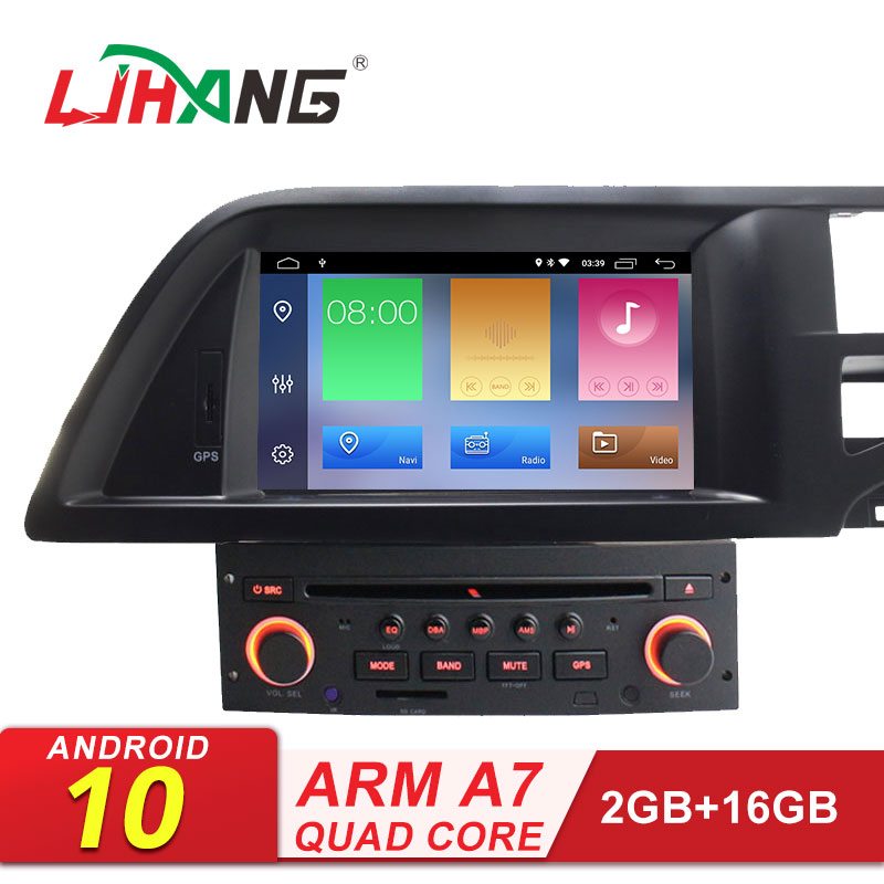 LJHANG Android 10 Car Multimedia Player For Citroen C5 2005-2012 GPS Navigation 1 Din Car Radio Stereo DVD SD WIFI Auto RDS IPS