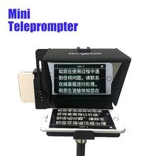 Mini Portatile Suggeritore di Smartphone Teleprompter per youtube Live vlog video Intervista Discorso per le Fotocamere REFLEX Digitali Del Telefono delle cellule