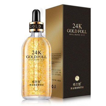 100ml 24k Gold Foll Hyaluronic Acid Facail Serum Moisture Anti-wrinkle Gold Smooth Skin Care Face Serum Liquid Essence 1