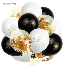 Twins 15Pcs Wild One Latex Balloons Baby 1st Birthday Party Decoration Boy Girl First Baby Shower One Year Birthday Balloons badly drawn boy badly drawn boy one plus one is one