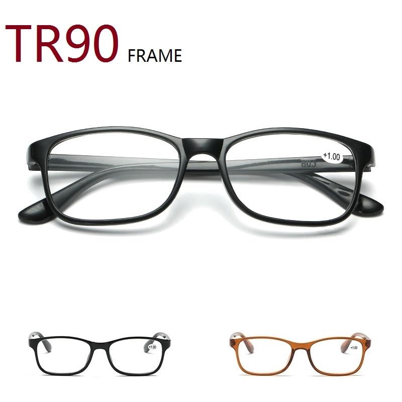 Men's Reading Glasses TR90 Frame Presbyopia Glasses Men Women Ultra Light Vintage Computer Eyeglasses 1.0 1.5 2.0 2.5 3.0 3.5 4