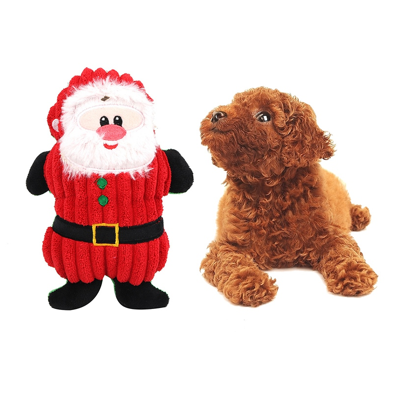 Hot Selling Dog Toy Cartoon Shaped Popular Toys for Puppy Cat Santa Claus Pet Toys Christmas Dog Accessories Pet Products