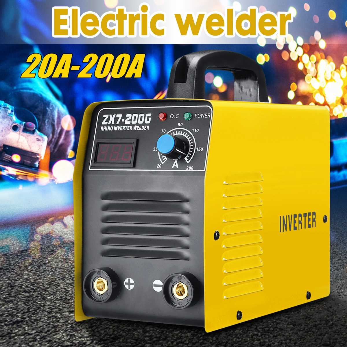 220V 20-200A 25KVA Handheld Mini MMA IGBT Inverter Mini Electric IGBT MMA ARC ZX7 7Welding Welder-Machine Tool