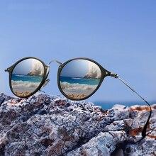 Gafas de sol ovaladas Retro de diseño de marca gafas de sol de aluminio polarizadas de aleación de magnesio Vintage Unisex gafas de sol de resina para hombre