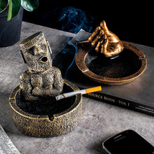 Portable Ashtray Stone Office-Decor Home-Decoration-Accessories Funny-Character Modern