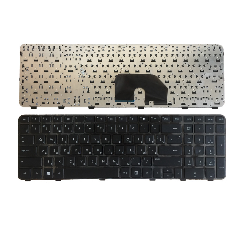 Russian New FOR HP DV6 DV6-6000 6101TX 6151TX Pavilion DV6-6200 DV6-6b00 Dv6-6c00 RU Black Laptop Keyboard With Frame