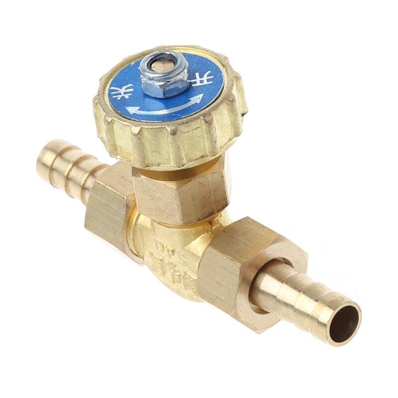 Brass Needle Valve Inline 8mm//10mm Propane Butane Gas Adjuster Barbed Spigots