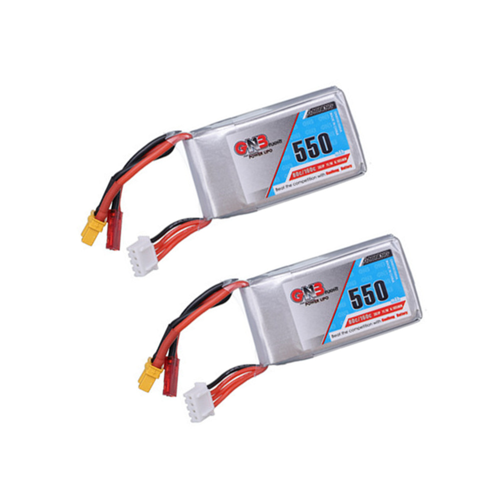 2PCS Gaoneng GNB <font><b>550mAh</b></font> 11.1V 80C Lipo Battery for Lizard95 Torrent 110 FPV Racing Drone RC Quadcopter <font><b>3s</b></font> Battery jst xt30 plug image