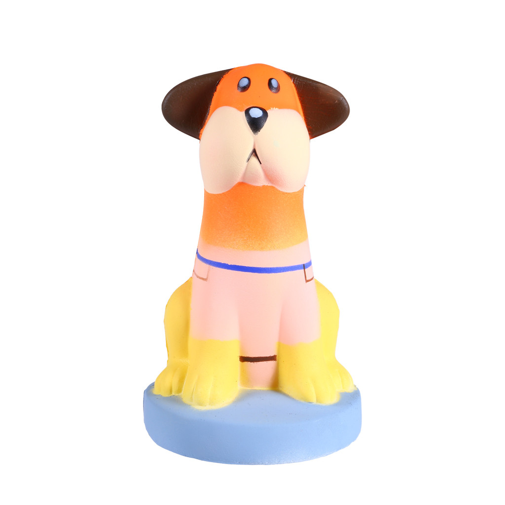 Kawaii Anti-stress Cute Sitting Puppy Slow Rising Squeeze Relieve Squishies Fun Kids Toys For Children Collection Gift L108