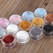 Eye Beauty Single Color Shimmer Shadow Powder Waterproof Smudge-Proof Long-Lasting Shine Luminous Eyeshadow