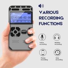Профессиональный цифровой мини-диктофон с голосовым управлением, умное Звуковое управление, шумоподавление, HD HIFI, музыка, mp3-плеер, TF-карта, ...