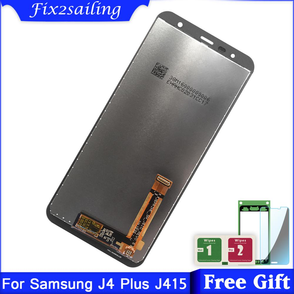 Super AMOLED LCDS For Samsung <font><b>Galaxy</b></font> <font><b>J4</b></font> Plus J415 SM-J415F J415FN LCD <font><b>Display</b></font> Touch Screen Digitizer Assembly Replacement image