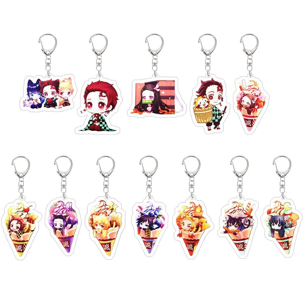 Demon Slayer: Kimetsu No Yaiba Acrylic Keychain Trendy Anime Figure Cosplay Key Chains