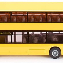Doppelstock Linienbus,  Metall/Kunststoff, Gelb, Bereifung aus Gummi