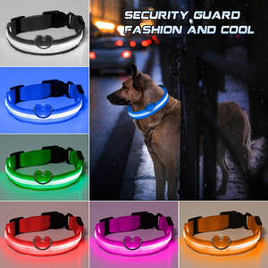 Puppies Pet-Products Battery Led-Supplies Dog-Collar Creative Without Anti-Loss/avoid
