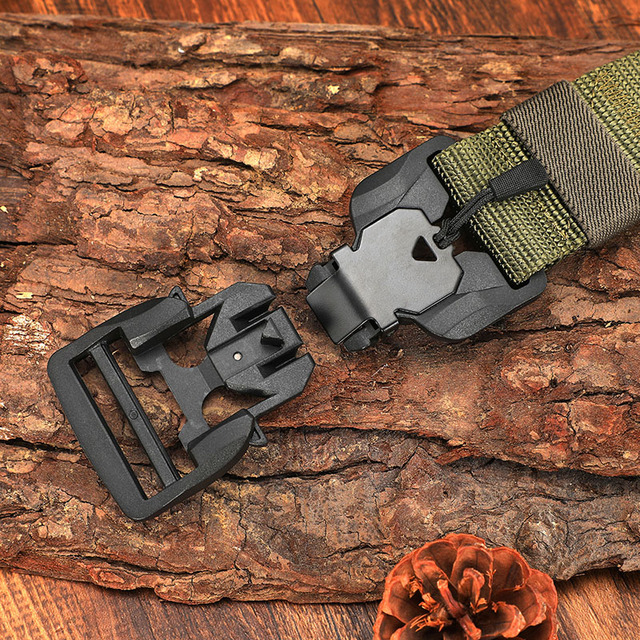 FRALU NEW Military Equipment Combat Tactical Belt for Men US Army Training Nylon Magnetic Buckle Waist Belt Outdoor Hunting belt 6
