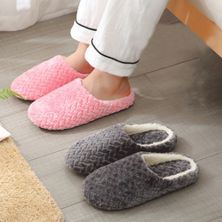 Women Indoor Slippers Warm Plush Home Slipper Autumn Winter Shoes Woman House Flat Floor Soft Slient Slides for Bedroom