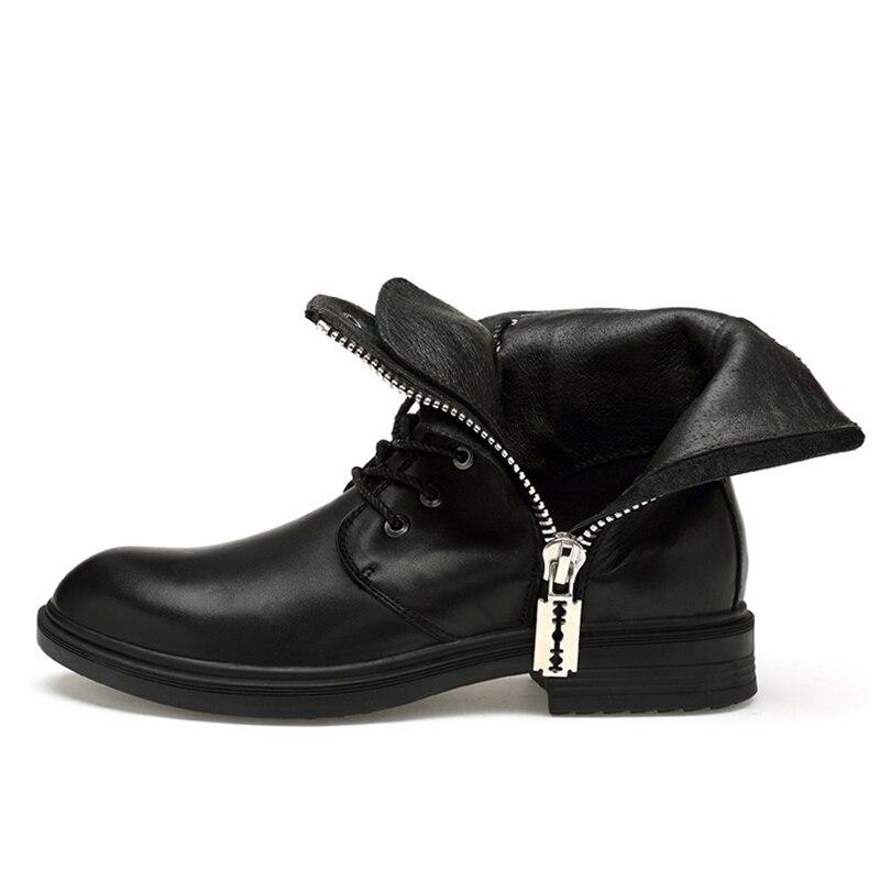 Мужские ботинки 2019 г. Новые Модные износостойкие зимние ботинки из искусственной кожи мужские рабочие ботинки зимние теплые ботинки 36 46*9918 - 3