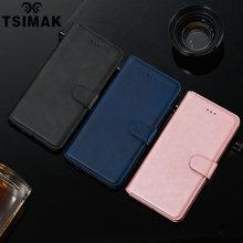 Capa tsimak couro pu, com flip, para samsung galaxy a10 a20 a30 a40 a50 a60 a70 a80 a90 5g capa de bolso do cartão da capa coque