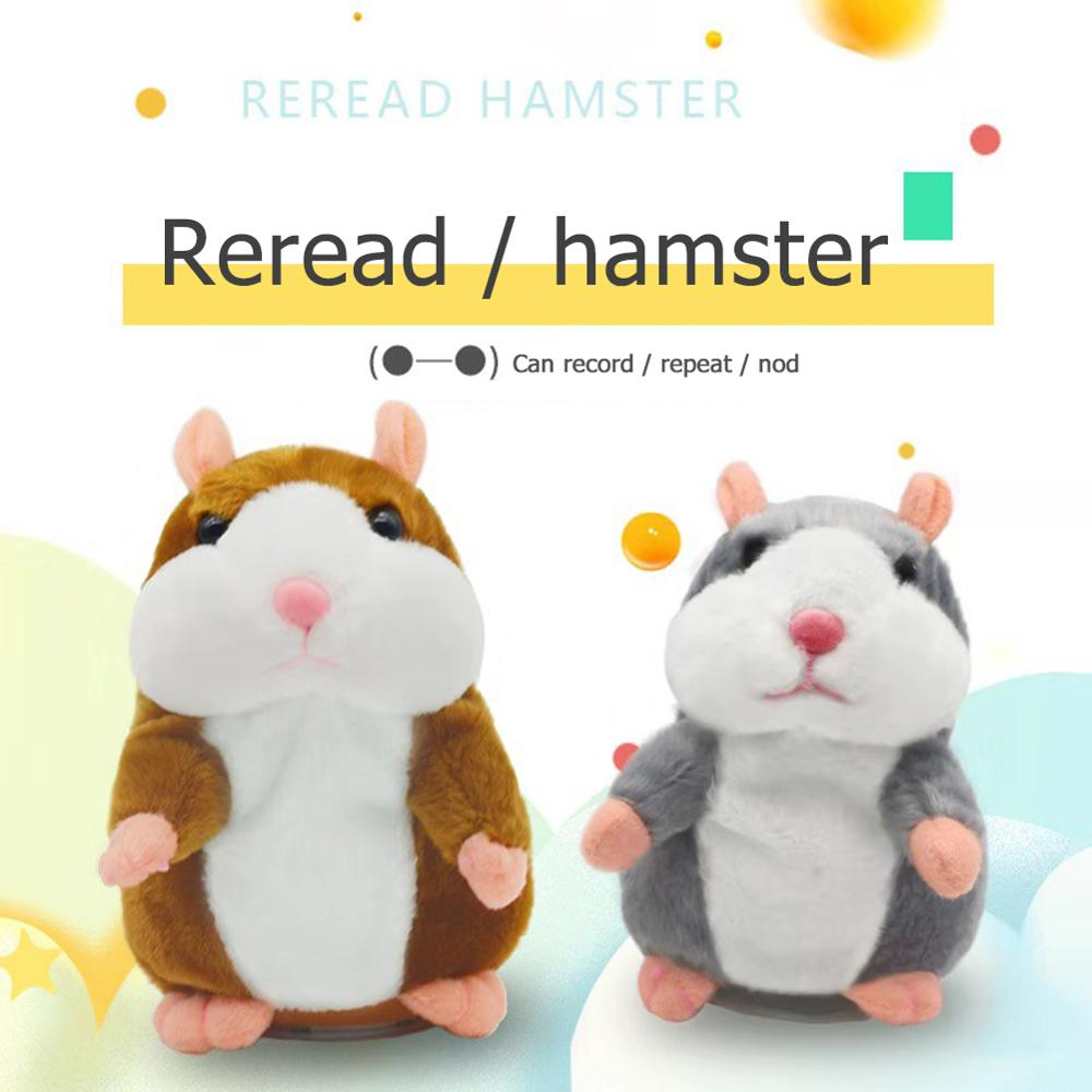 Doll Voice-Changing-Toys Talking-Hamster Repeat Record Animal Stuffed Plush Funny Sound