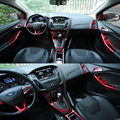 ALittleChange автомобильный хромированный руль отделка внутренняя дверная ручка Чаша коробка вентиляционное отверстие крышка наклейка для Ford ...