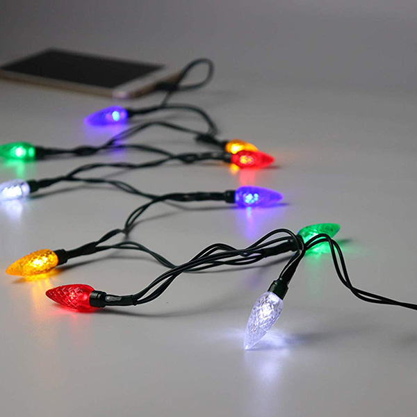 Christmas LED Smartphone USB Charging Cable With LED Lights Room Decoration Charging Cable For Phone 5/6/7/8/5S/6Plus/7S/8X/XS