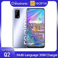 Nowy realme Q2 4GB 128GB 5G Android 10 telefon komórkowy 6.5