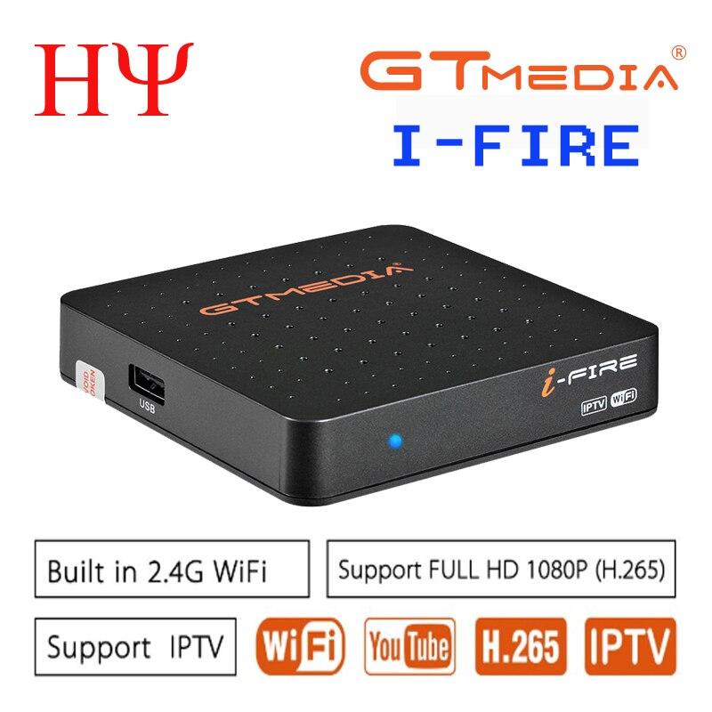 2PCS Original Newest IPTV BOX GTmedia IFIRE TV Box 4K HDR H.265 STB BOX Ultra HD WIFI Xtream IPTV Stalker IPTV  Set Top Box