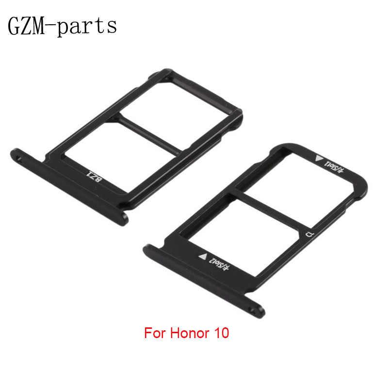 GZM-أجزاء 1 قطعة بطاقة SIM صينية المزدوج فتحة حامل إصلاح جزء لهواوي الشرف 10/10 لايت/الشرف 9 لايت