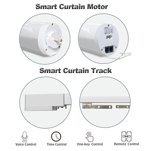 Image 4 - Wifi Smart Automatic Curtain Control System Smart life Motorized APP remote voice control Curtain motor track rail
