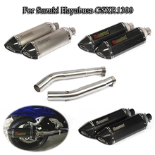 GSXR1300 Exhaust System Pipe Exhaust Muffler Mid Connect Link Tube Slip On Full Set Pipe For Suzuki Hayabusa 2008-2017 Scooter