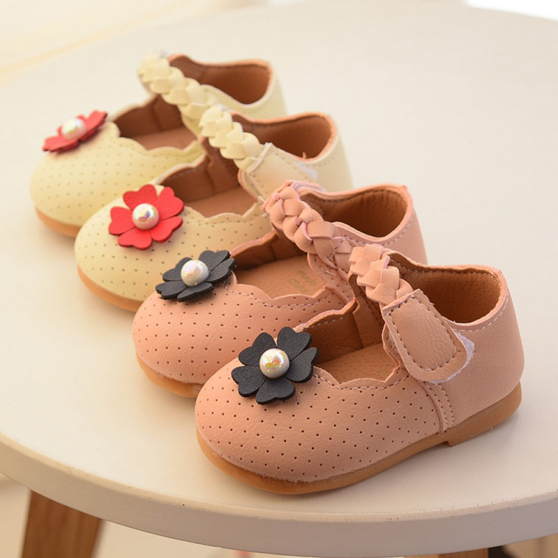 Shoes Sneakers First-Walking-Shoes Anti-Slip Soft-Soled Princessflower Baby-Girl Casual