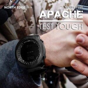 Image 5 - NORTH EDGE APACHE mężczyźni sport cyfrowy zegarek godziny działa pływanie zegarki wojskowe barometr wysokościomierz kompas wodoodporny