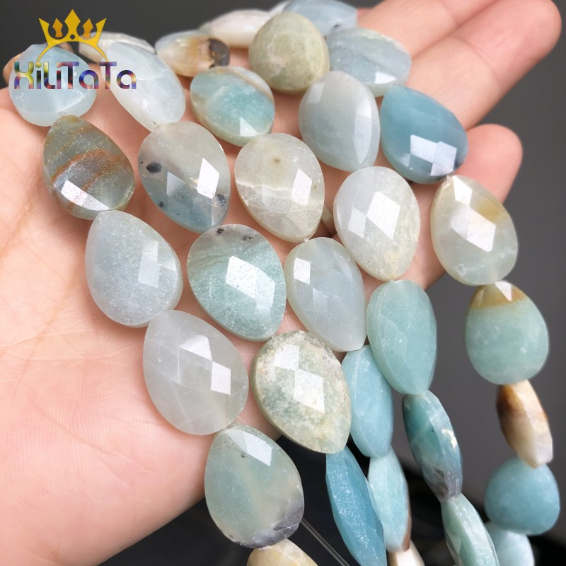 Long Water Drop Beads 10Pcs Natural Faceted Bead Jewelry Finding Earring Making