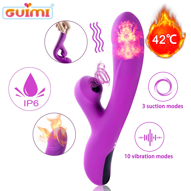 GUIMI Clitoral Sucking <font><b>Vibrator</b></font> <font><b>Sex</b></font> <font><b>Toys</b></font> <font><b>for</b></font> <font><b>Woman</b></font> <font><b>G</b></font> <font><b>spot</b></font> Vagina Orgasm Masturbation Heating Dildo <font><b>Vibrators</b></font> <font><b>Clitoris</b></font> Stimulator image