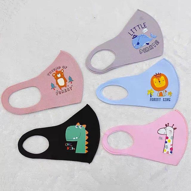 Summer Silk Cotton Boy Girl Kid Smoke Mask Reusable Children's Mouth Mask Face Mask Pollution-proof Filter Mask Travel 2