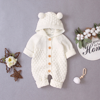 LZH 2020 Autumn Infant Hooded Knitting Jacket For Baby Clothes Newborn Coat For Baby Boys Girl Jacket Winter Kids Outerwear Coat 11