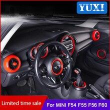Auto innen Dekorative rot ABS kunststoff aufkleber Für BMW MINI ONE COOPER S JCW F54 F55 F56 F57 F60 COUNTRYMAN styling Zubehör