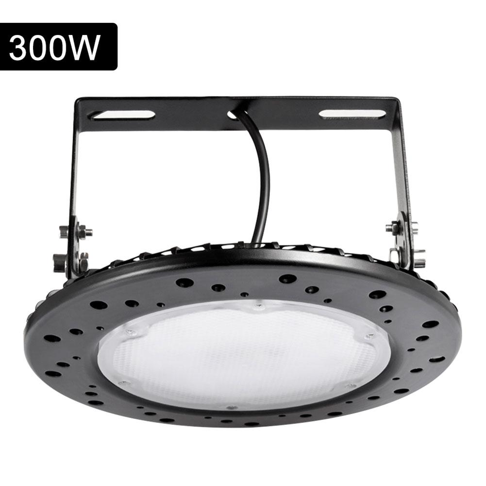 100W/200W/300W UFO High Bay Light 220V Super Bright COLD WHITE LED Mining Lamp IP65Waterproof Ceiling Spotlight Industrial Light