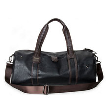 SIXRAYS Weekender Oil Wax Leather Handbags for Men Travel Duffel Bag Portable Shoulder Bags Men's Fashion Carry On Bag(China)