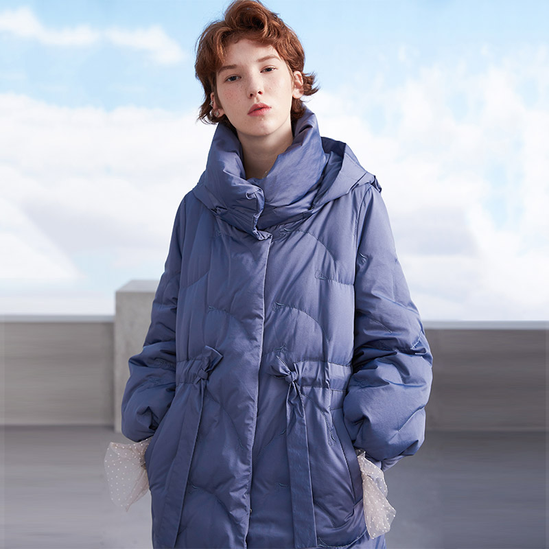 MissFoFo 2019 Winter New Fashion Brand Womens White Duck Down Jacket Pretty Girls Outerwear Coat