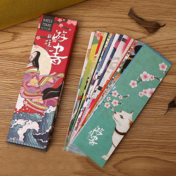 30 pcs/set Cute Kawaii Paper Bookmark Vintage Japanese Style Book Marks for Kids Student School Office Stationery Materials